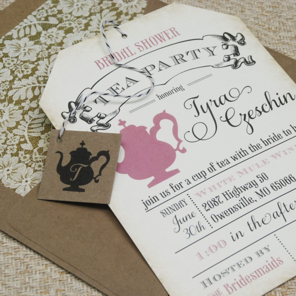 Tips Easy To Create Bridal Shower Tea Party Invitations Templates With Outstanding Appearance The Tea Party Bridal Shower Invitation | Silverlininginvitations