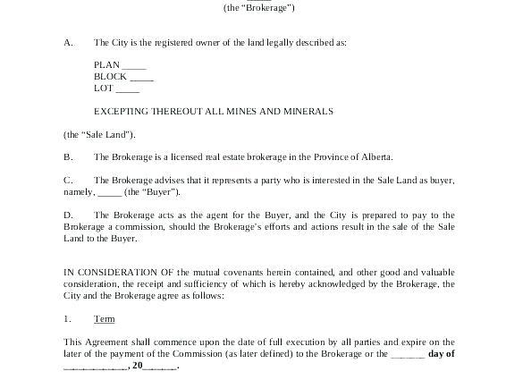 Broker Agreement Template South Africa