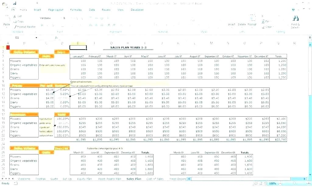 Budget Forecast Template Excel Free