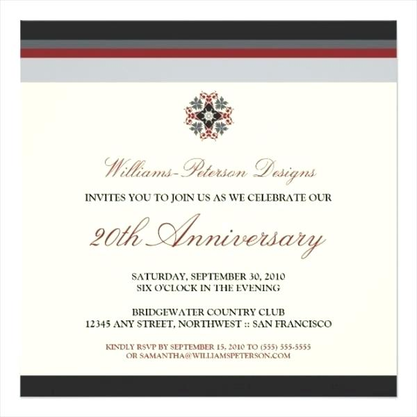 Business Anniversary Invitation Templates Free