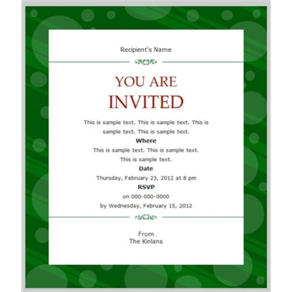 Business Event Invitation Templates