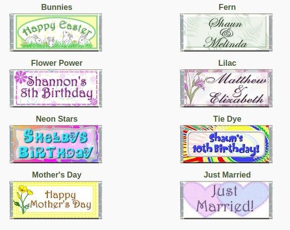 Candy Bar Wrapper Templates Free