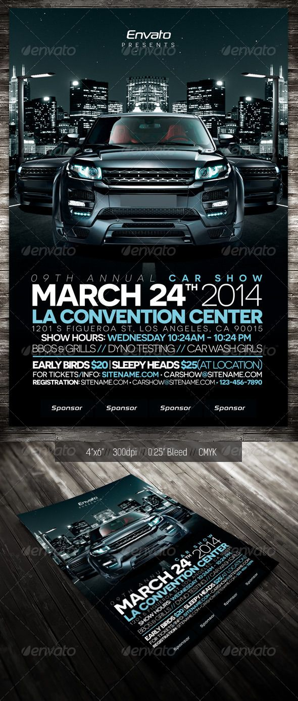 Car Show Flyers Templates