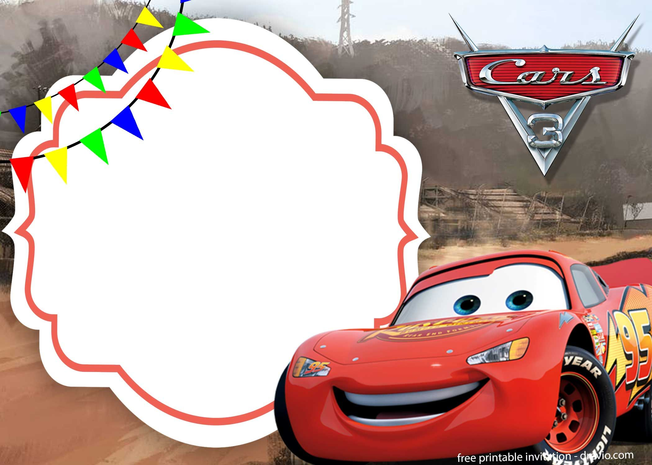 Cars Birthday Invitation Template Free Download