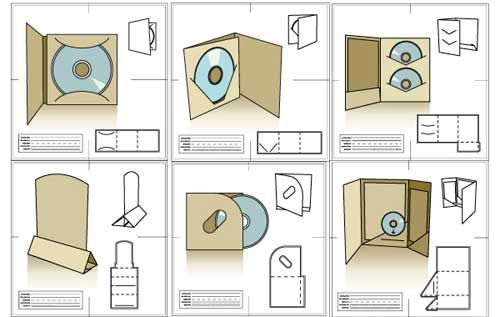 Cd Packaging Design Templates