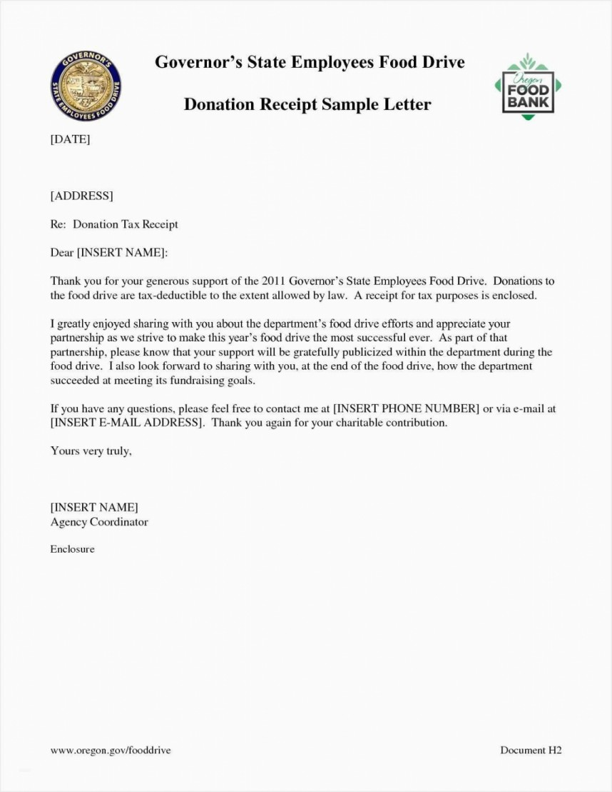 Charitable Donation Letter Template Pdf