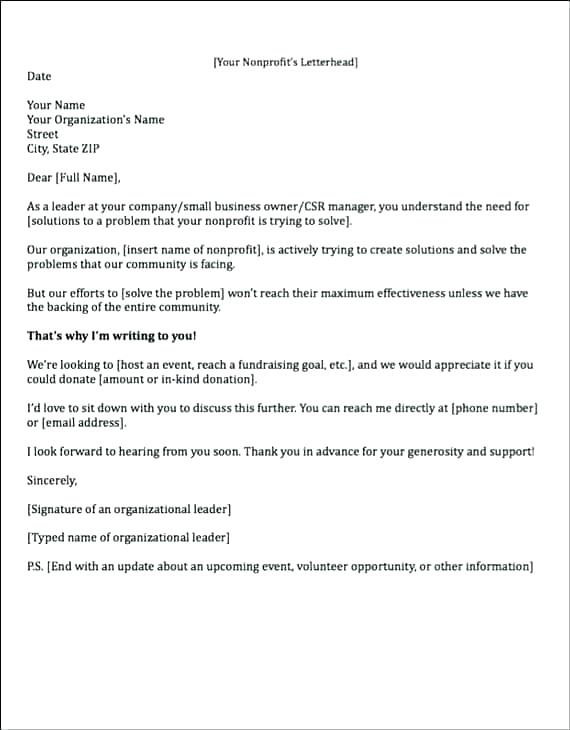 Charity Donation Email Template