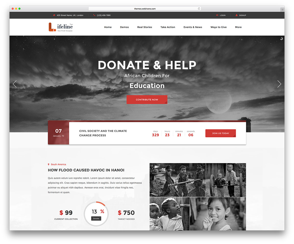 Charity Website Templates Free Download Bootstrap