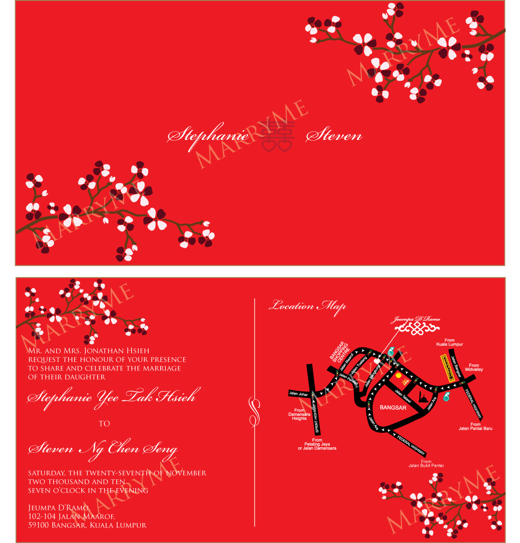 Chinese Wedding Invitation Template Free Download