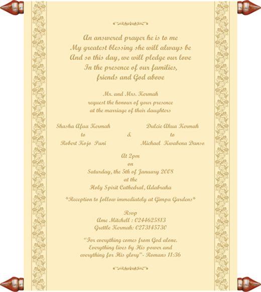 Christian Wedding Invitation Templates