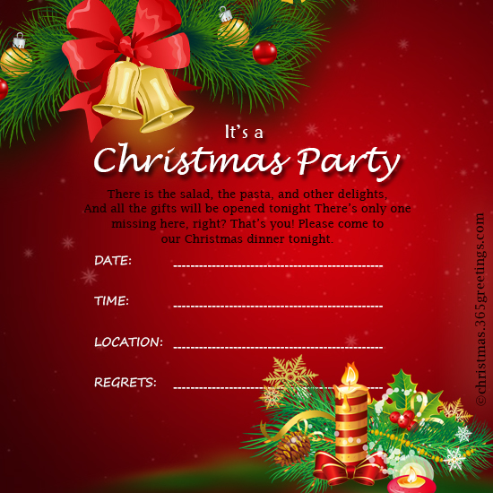 Christmas Celebration Invitation Template