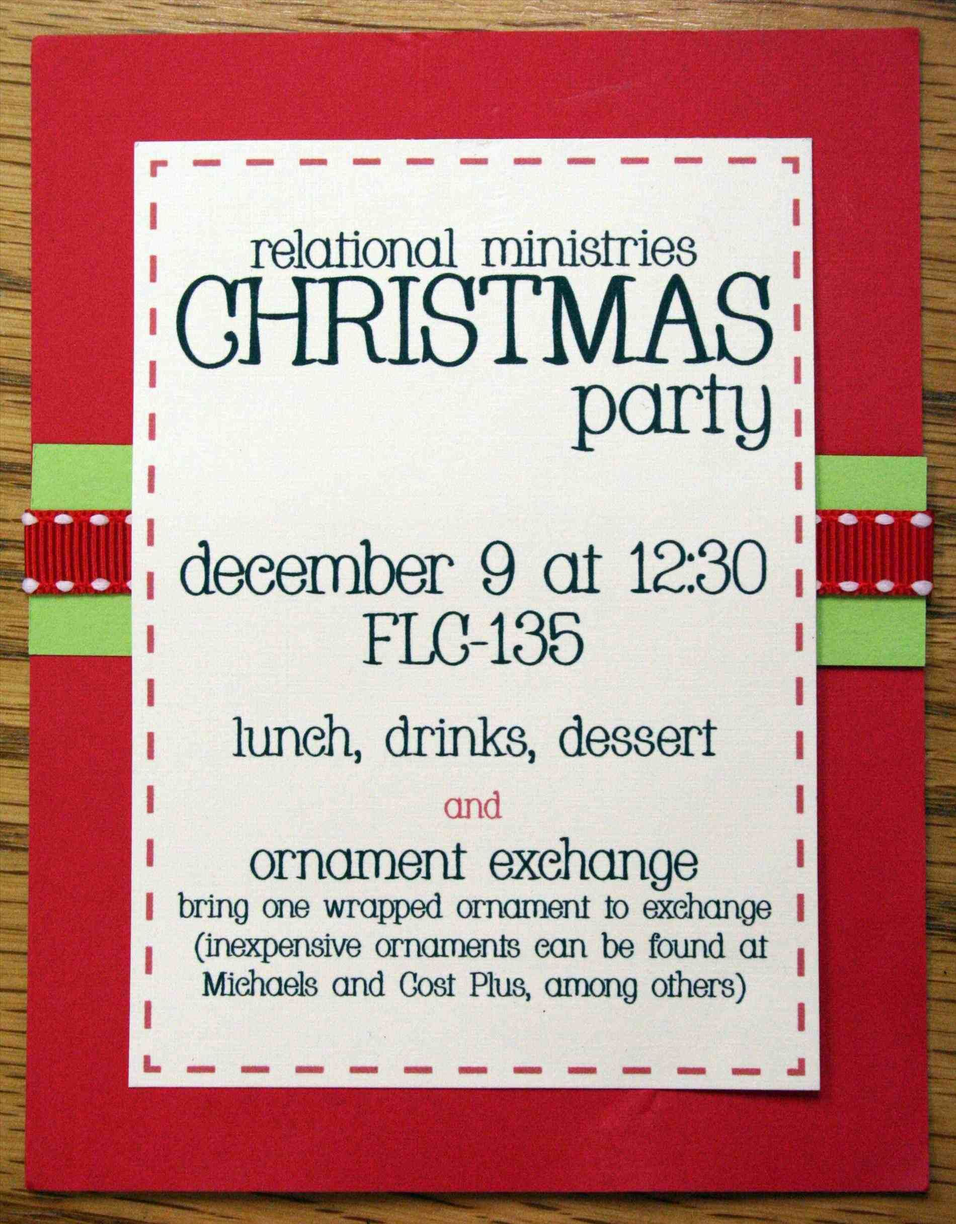 Christmas Office Party Invitation Templates Free