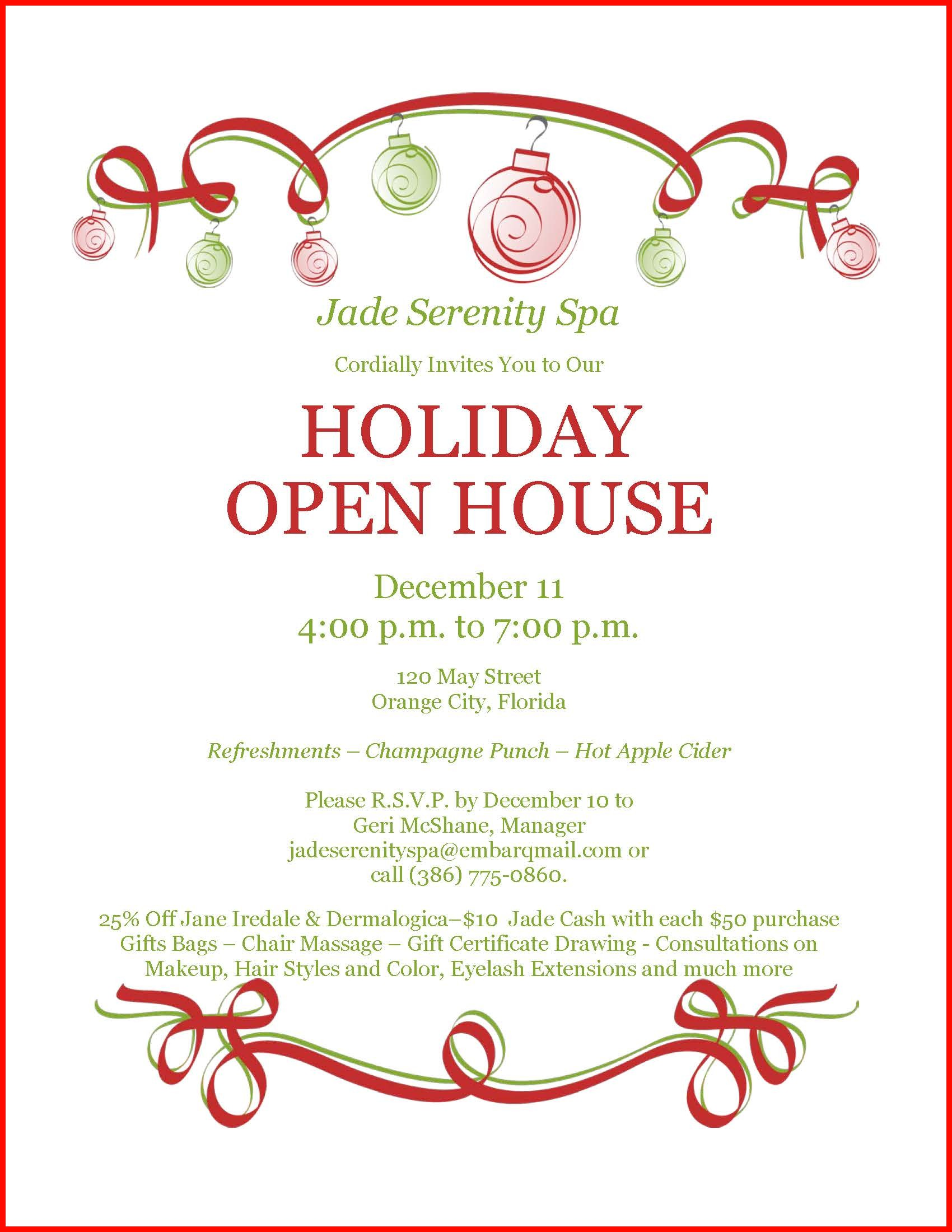 Invitation To Open House Wording 150524 Free Christmas Open House Invitations Fieldstation