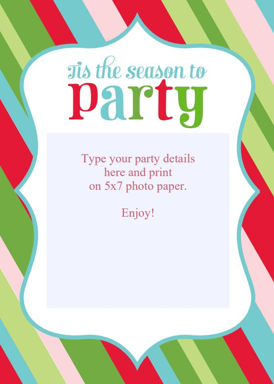 Christmas Pajama Party Invitation Template Free