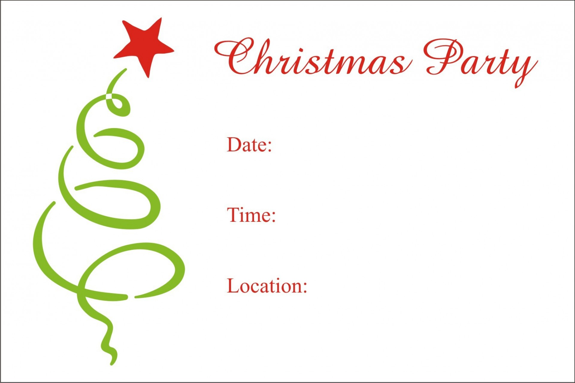 Christmas Party Invite Template Word Free