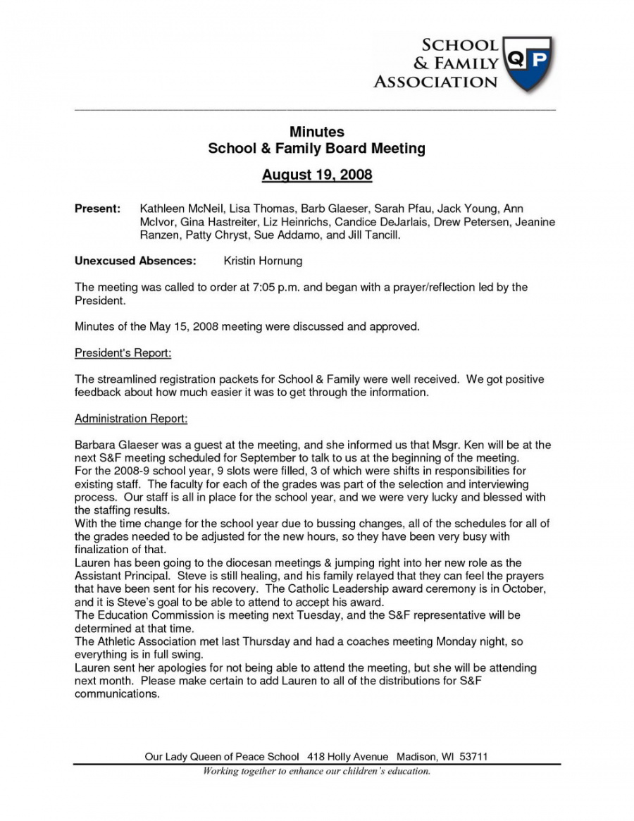 Printable Church Meeting Minutes Template Doc Templates #22638 Resume Examples School Staff Meeting Minutes Template Doc