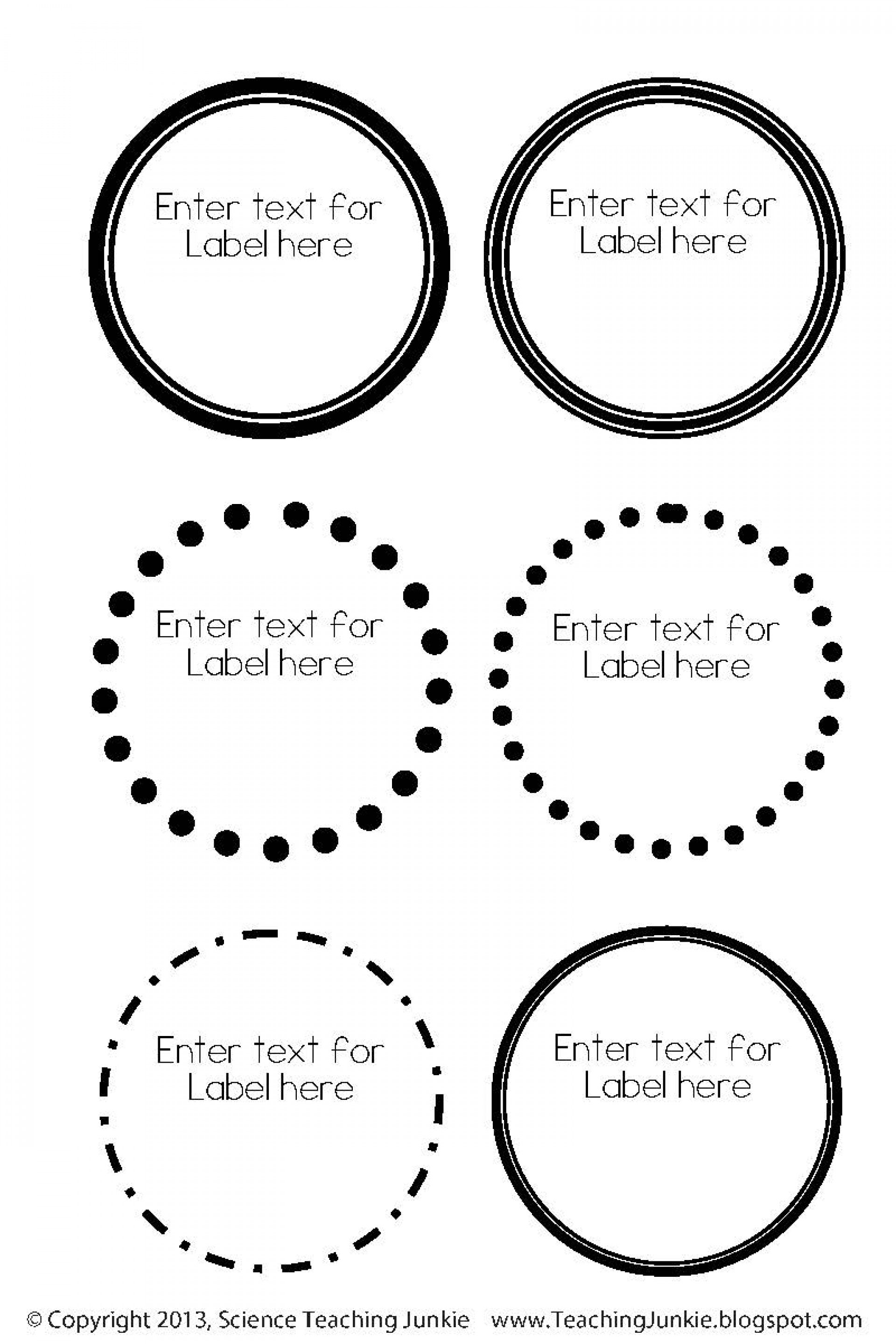 Circle Label Template For Word