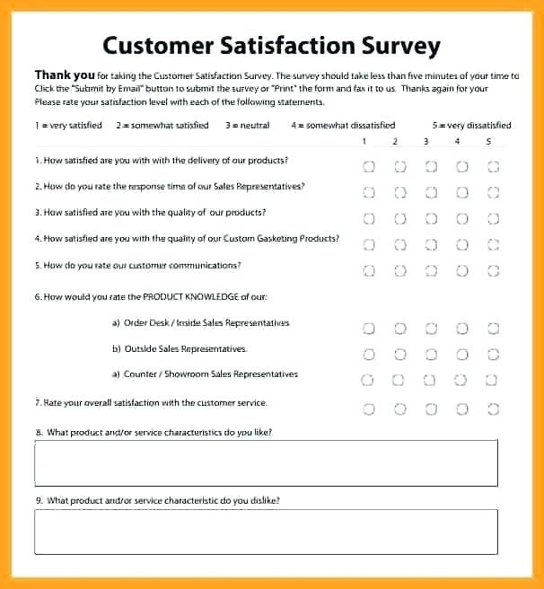 Client Satisfaction Customer Satisfaction Survey Template Free