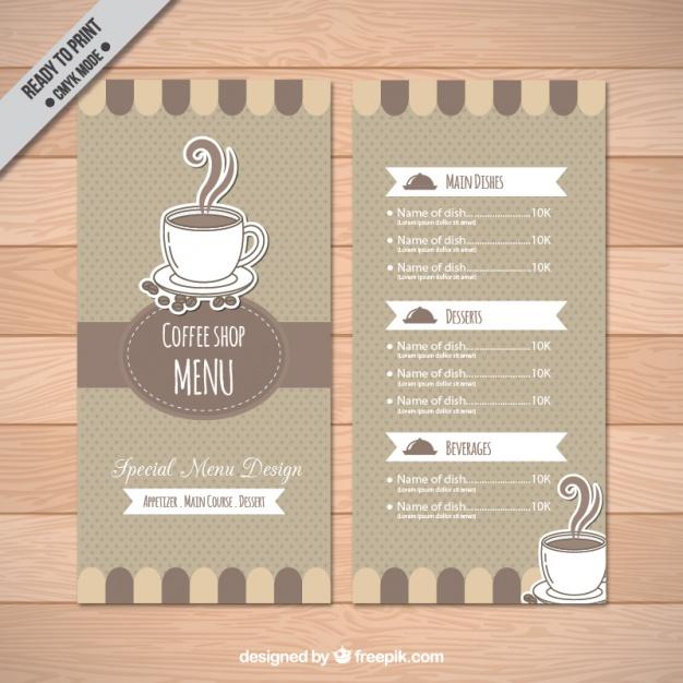 Coffee Shop Menu Template Free Download