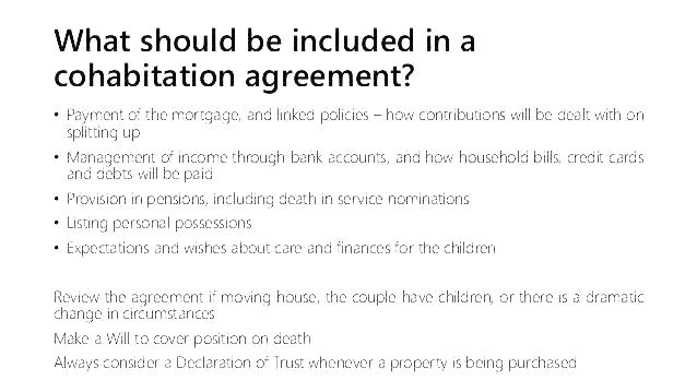 Cohabitation Agreement Template Ireland