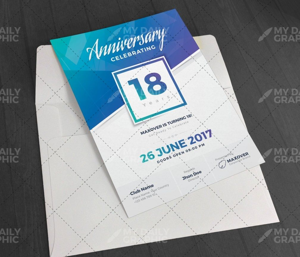 Company Anniversary Invitation Templates