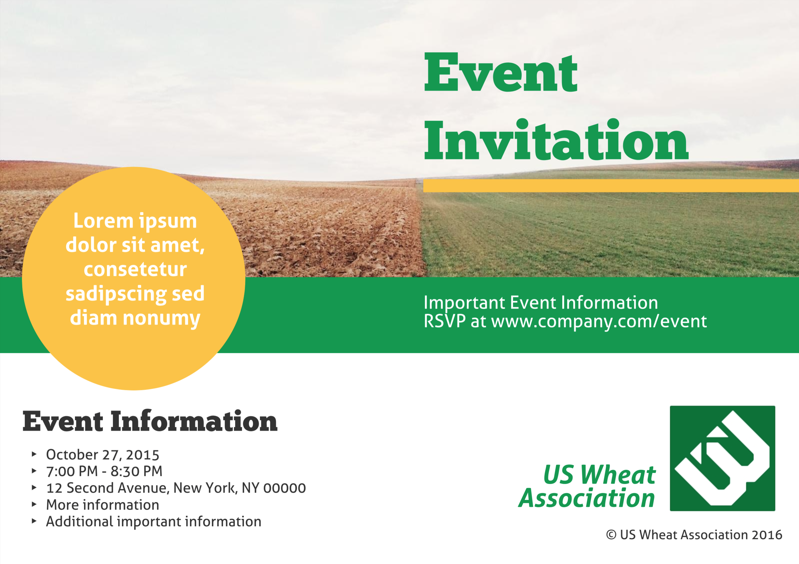 Company Event Business Event Invitation Templates