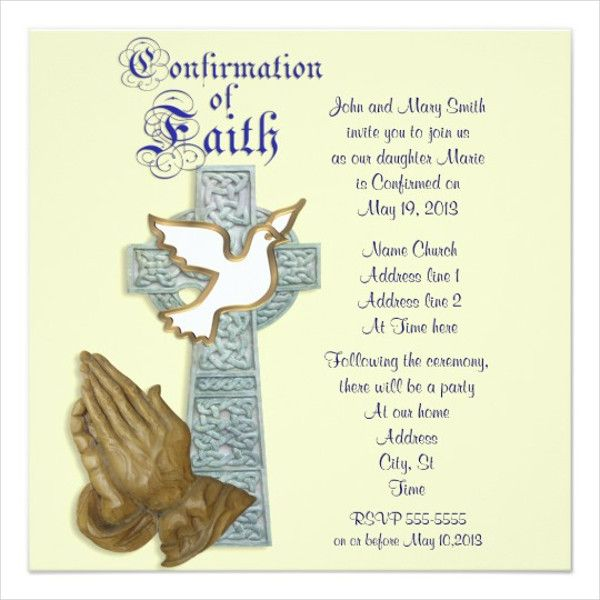 Confirmation Invitation Template Free