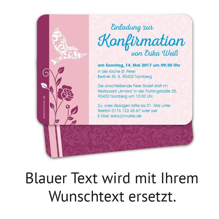 Confirmation Invitation Template Word