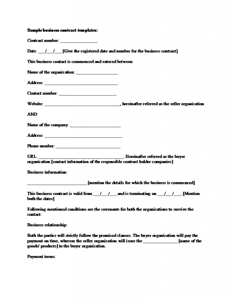 Construction Contract Template Free Download
