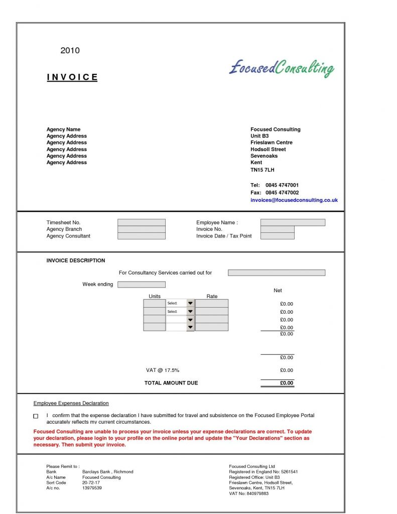 Consultant Invoice Professional Services Invoice Template