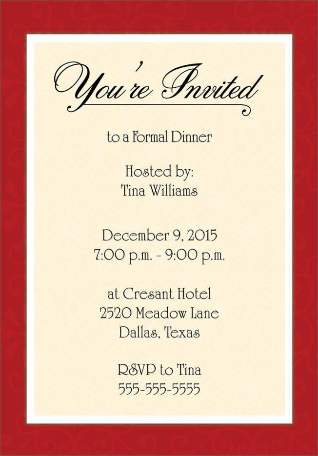 Corporate Dinner Invitation Template