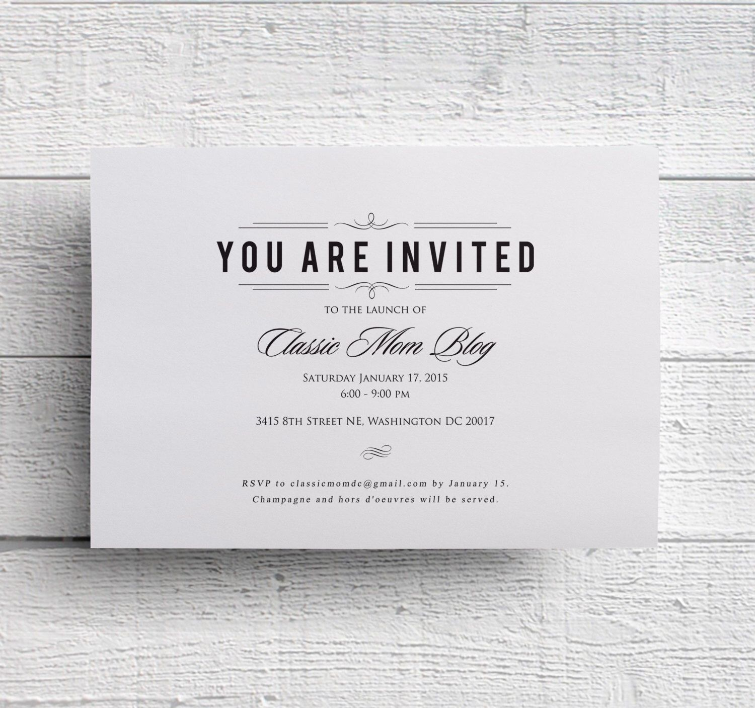 Corporate Event Invitation Template