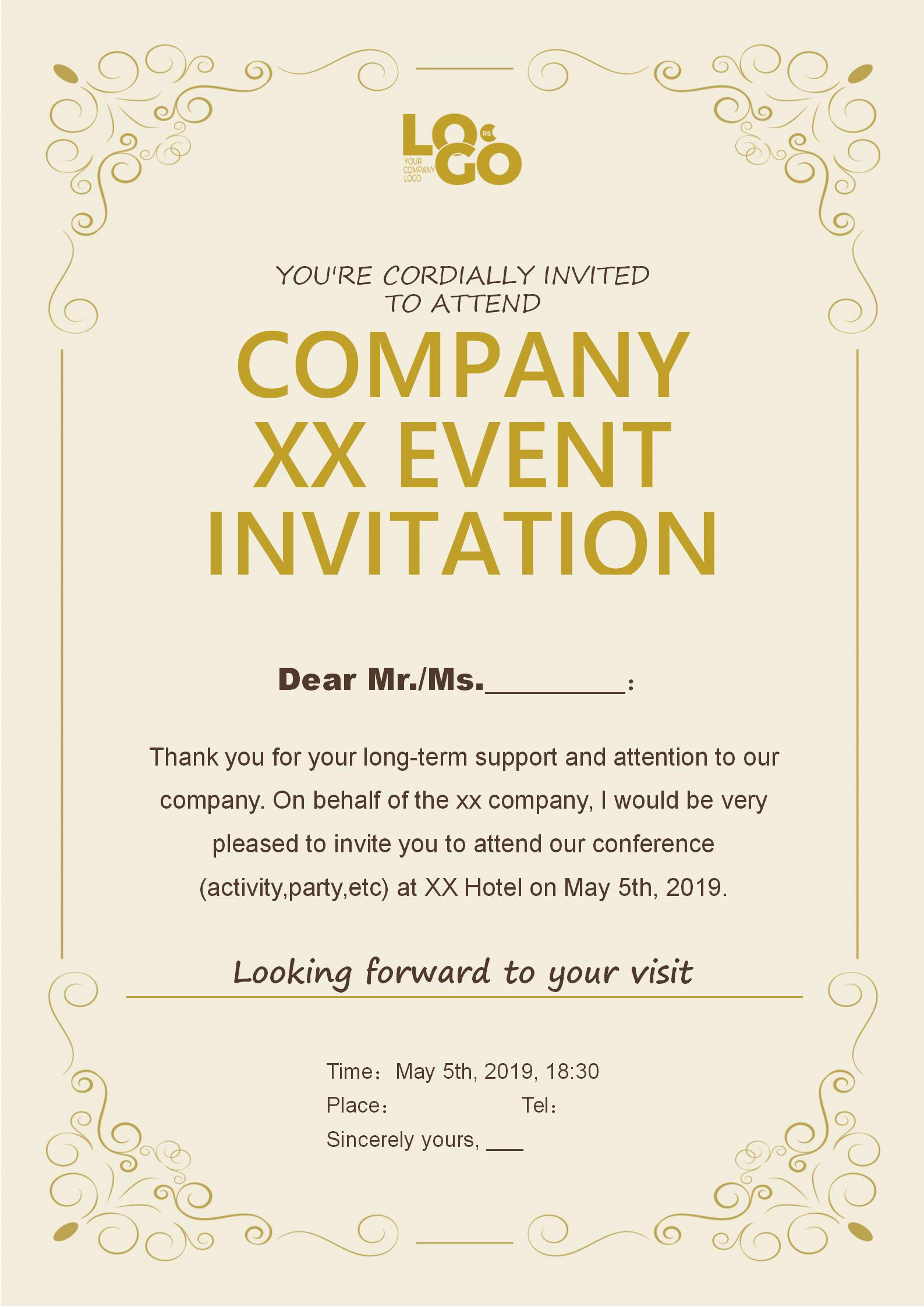 Corporate Event Invitation Templates Free