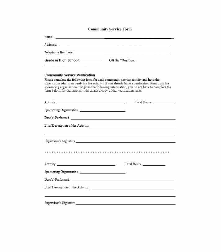Court Paperwork Template