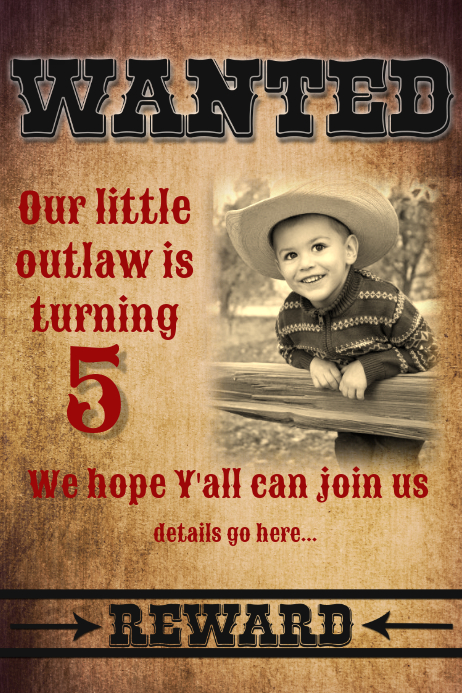 Cowboy Theme Invitation Template