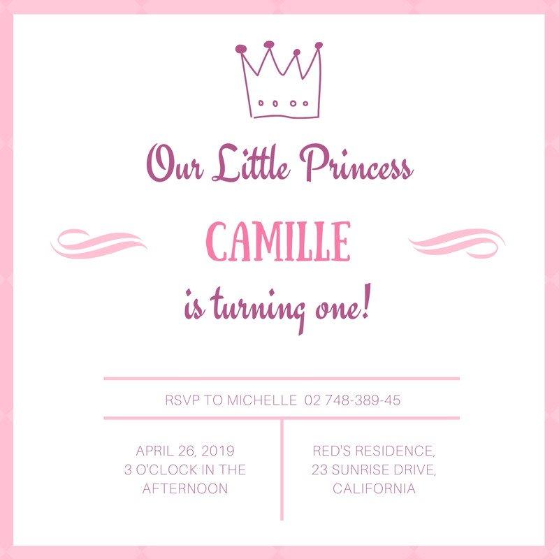 Crown Birthday Invitation Templates