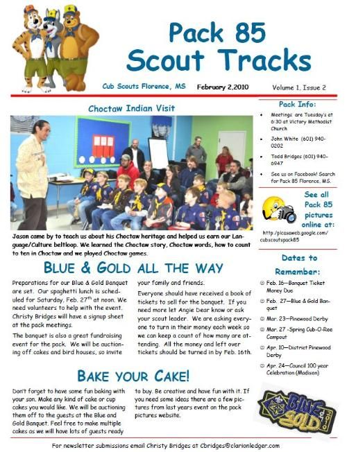 Cub Scout Newsletter Templates Free