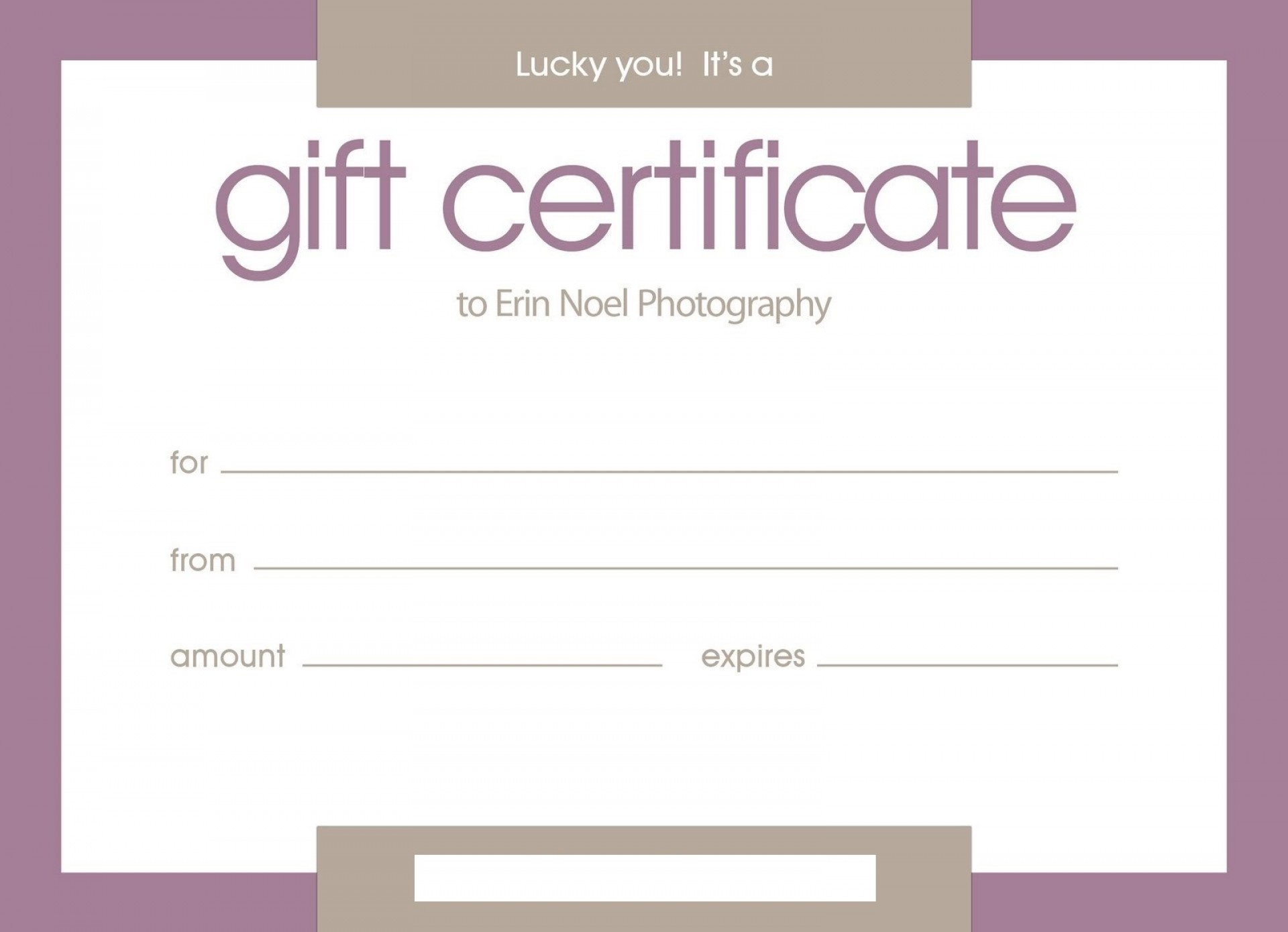 Customizable Massage Certificate Template
