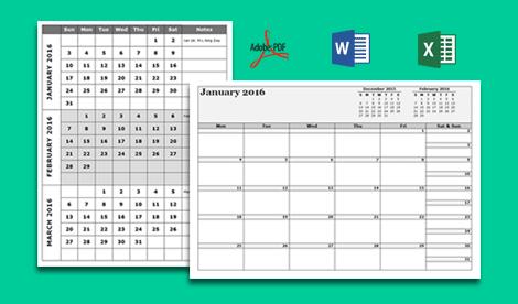 Customize Calendar Template