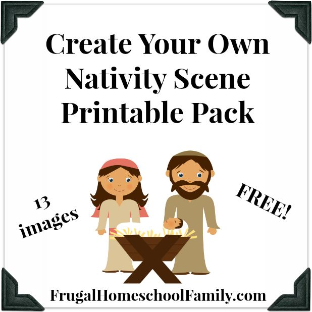 Cut Out Nativity Scene Template