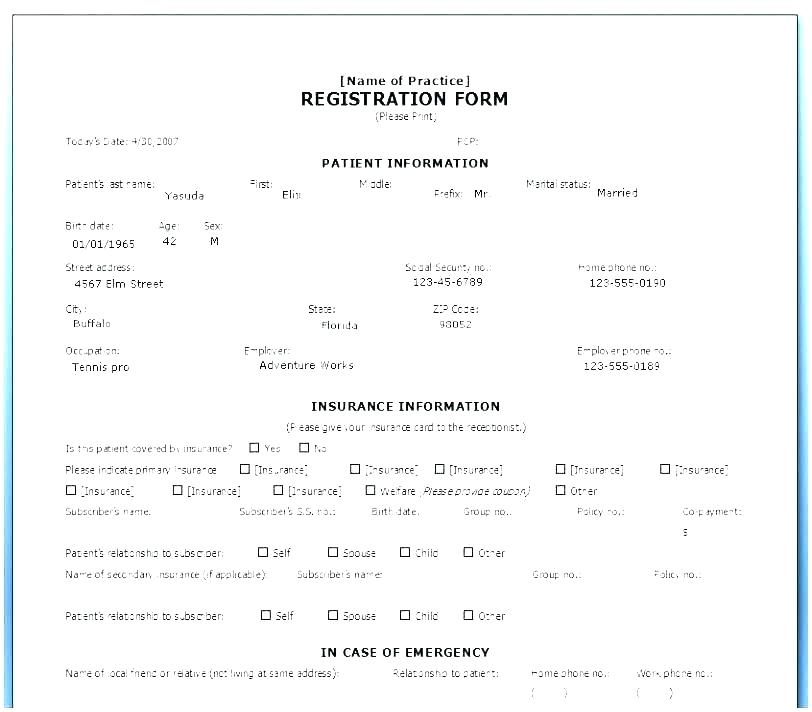 Dance Class Registration Form Template