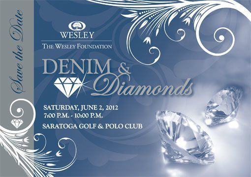 Denim And Diamonds Invitation Templates