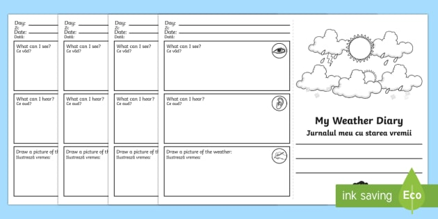 Diary Booklet Template
