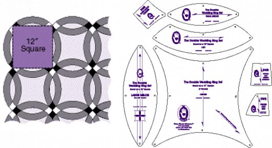 Double Wedding Ring Quilt Templates Free
