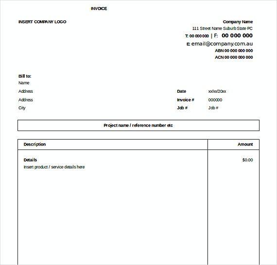 Downloadable Excel Invoice Templates