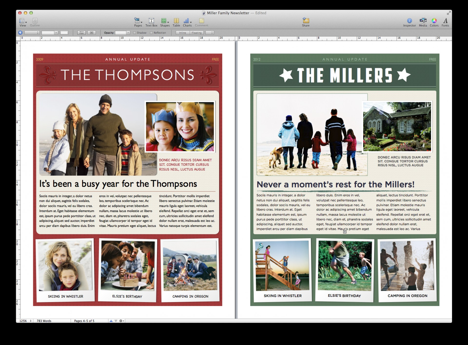 Downloadable Free Christmas Newsletter Templates