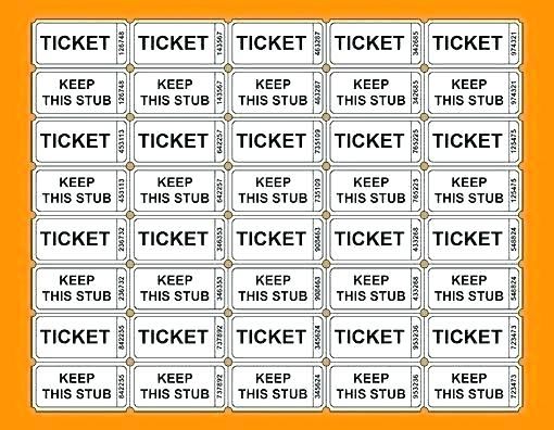 Downloadable Printable Raffle Tickets Template