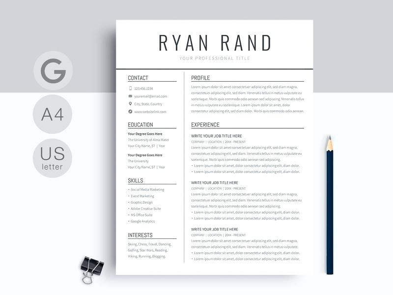 Downloadable Word Cv Template Uk