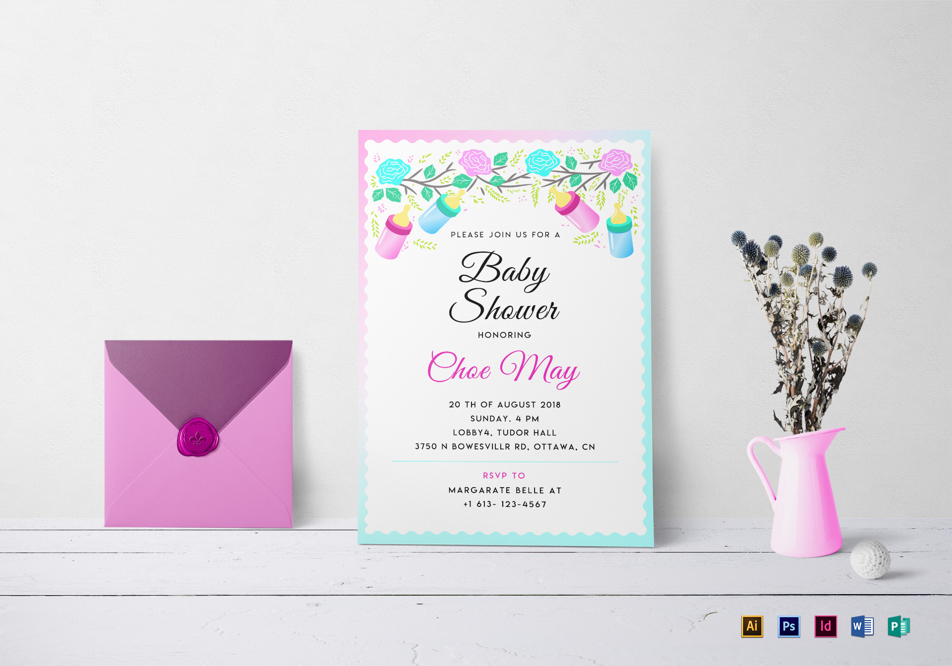 Editable Baby Shower Invitation Template Free