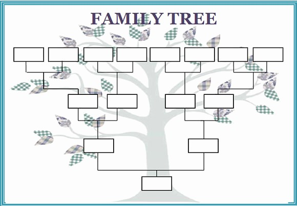 Editable Blank Genogram Template